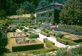 Badia a Coltibuono formal garden